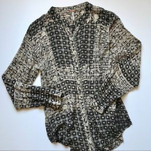 Free People Button Down Shirt - Large